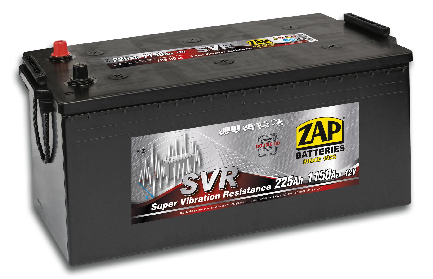 Akumulator Zap Svr 12v 225ah 1150a 72500